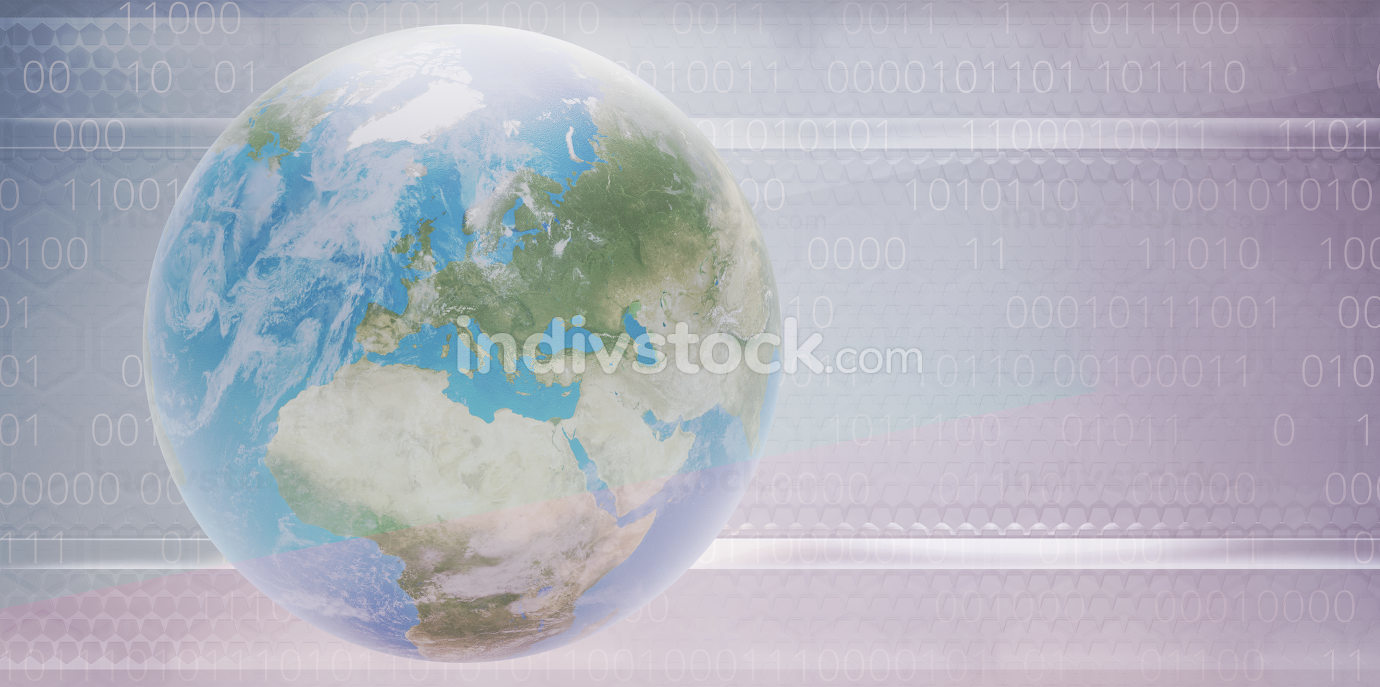 free download: planet earth digital creative background random binary code 3d-illustration. elements of this image furnished by NASA