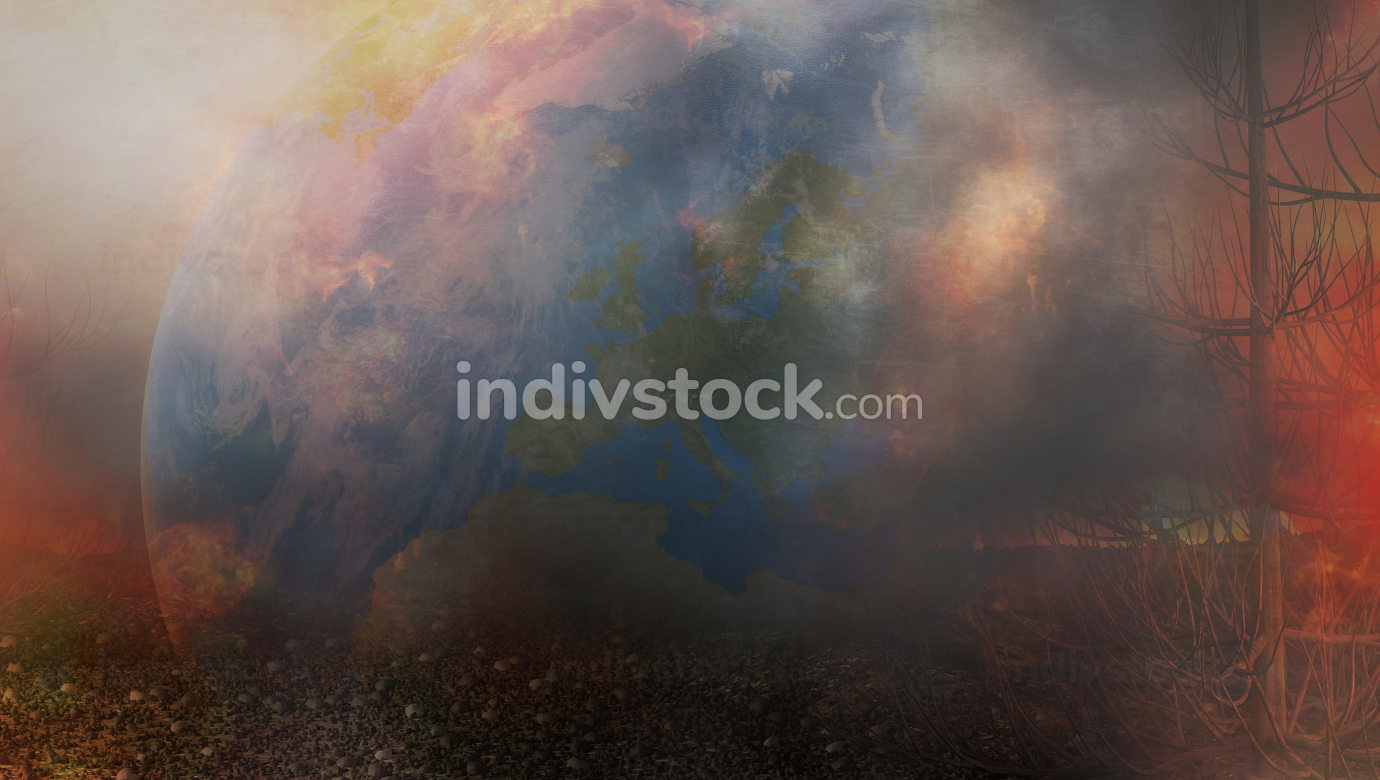 free download: planet earth fire and flames 3d-illustration. elements of this image furnished by NASA