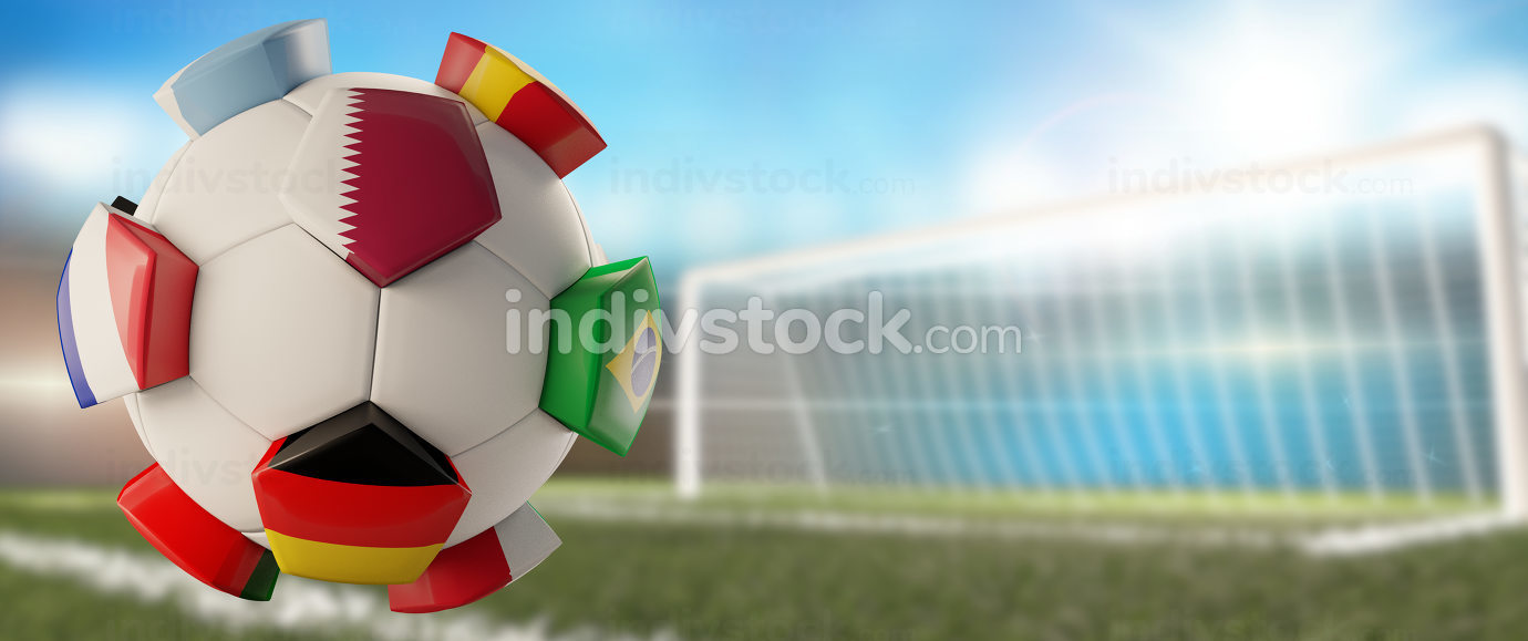 free download: soccer ball creative Qatar Germany France design 3d-illustration