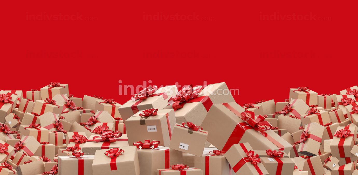 free download: wrapped brown packages delivery boxes 3d-illustration