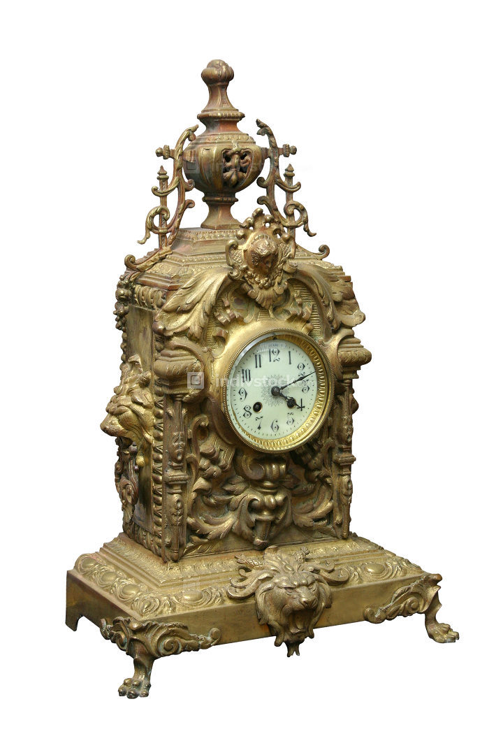 From 1800 ornate desktop clock.