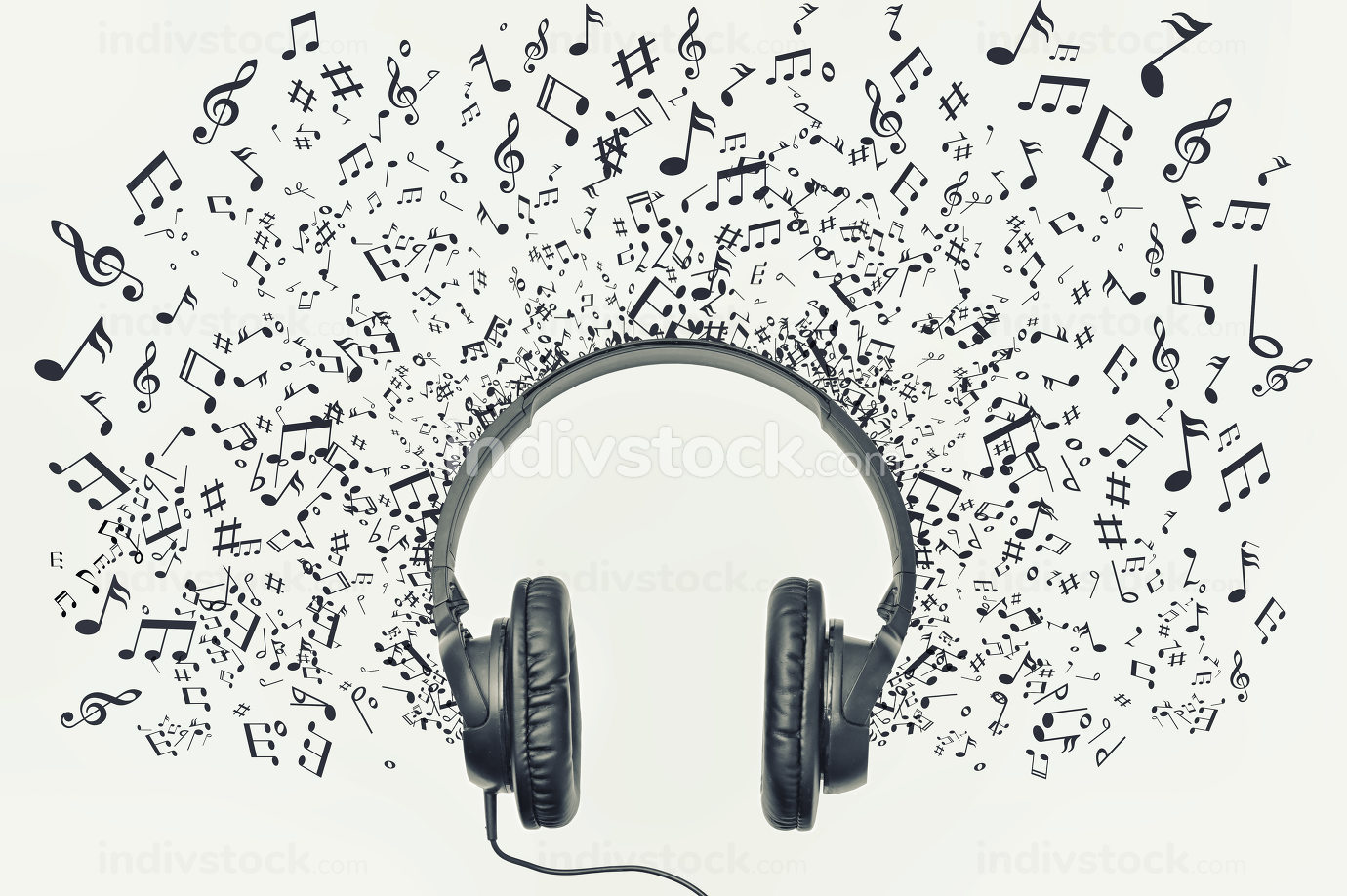Headphones And Sign Musical Note