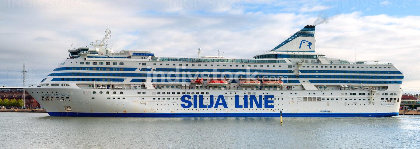 Helsinki/Finland September 01, 2014: MS Silja Serenade in a port