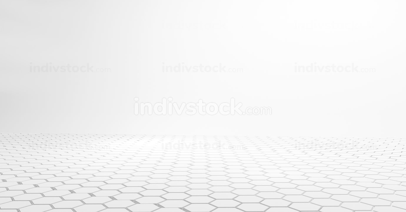 hexagonal white design 3d-illustration