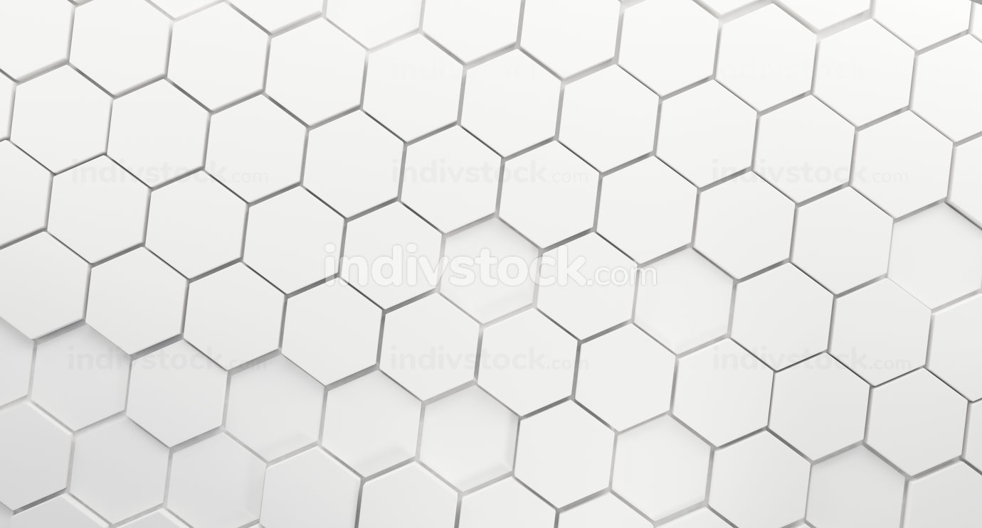 hexagons background white. 3d-illustration