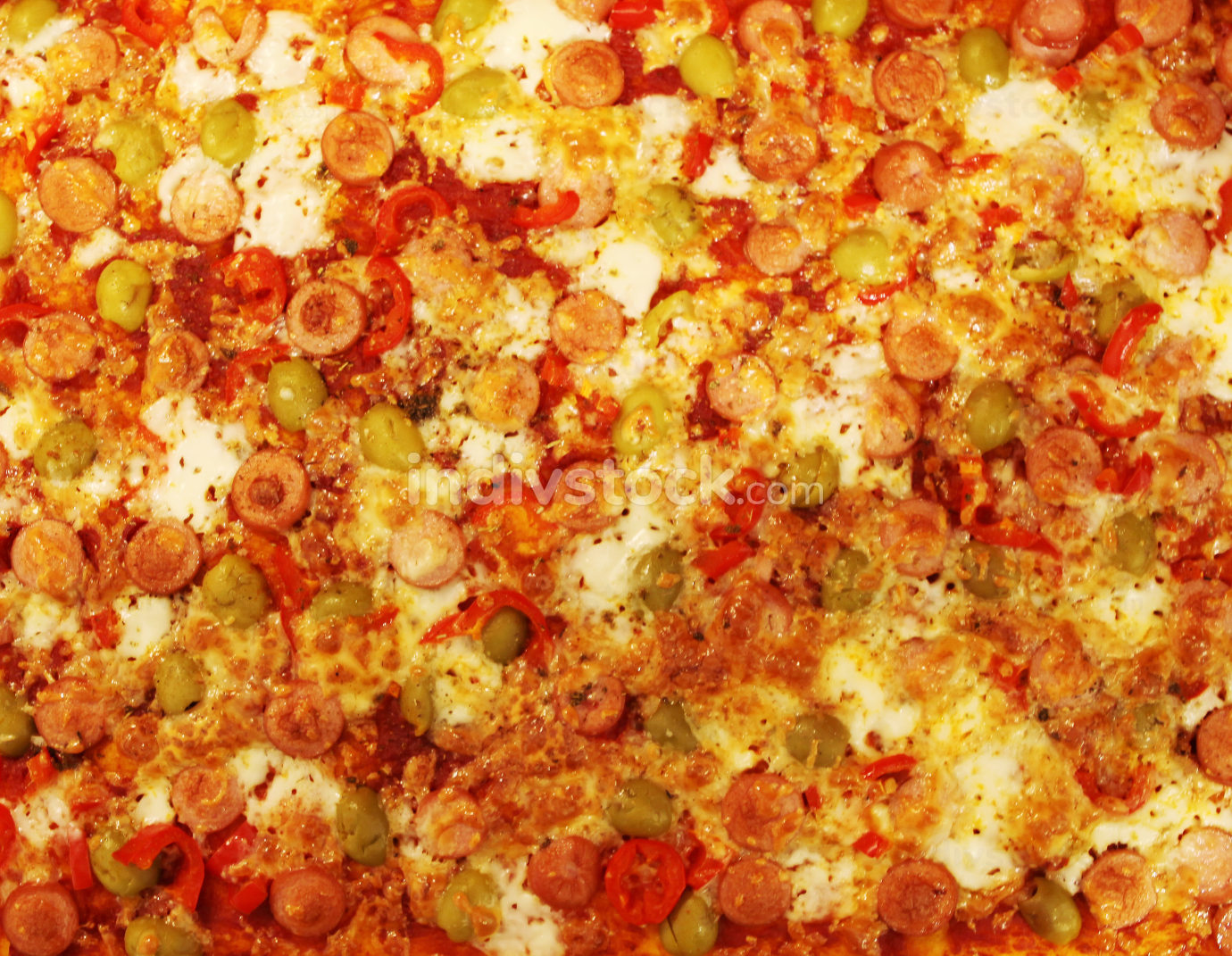 Image Of Hot Homemade Pizza