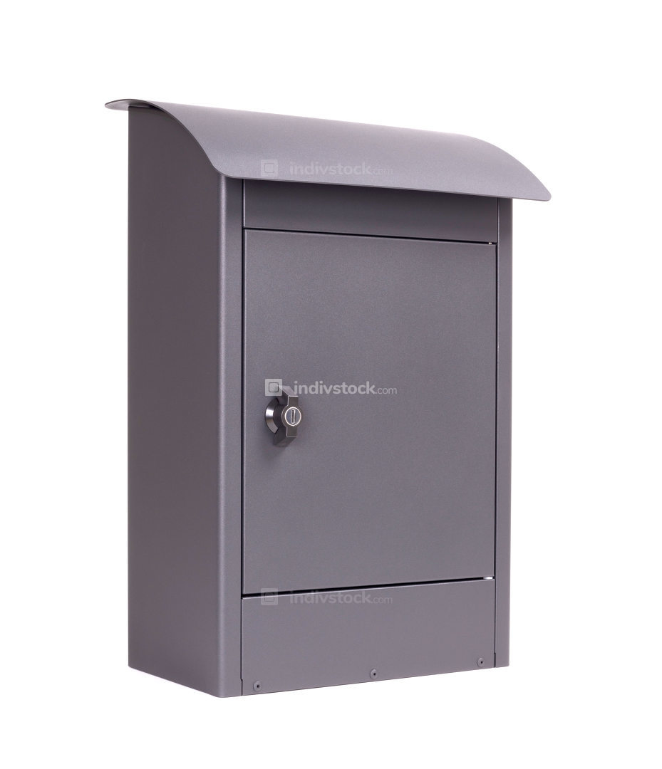 Modern letter-box isolated
