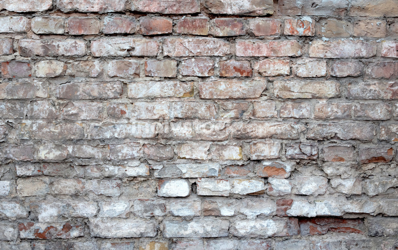 Old Brick wall background - Antique wall with red bricks