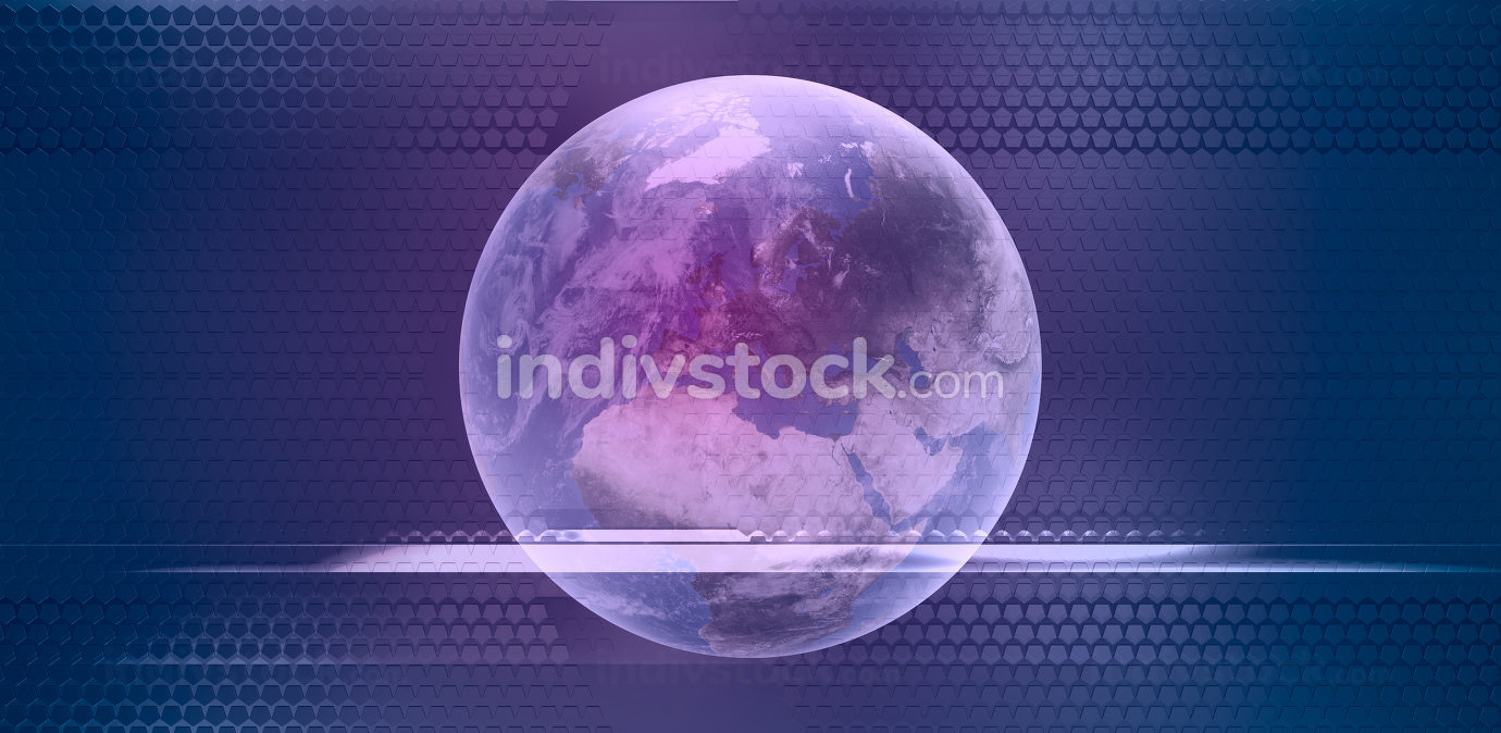 planet earth creative background 3d-illustration. elements of this image furnished by NASA