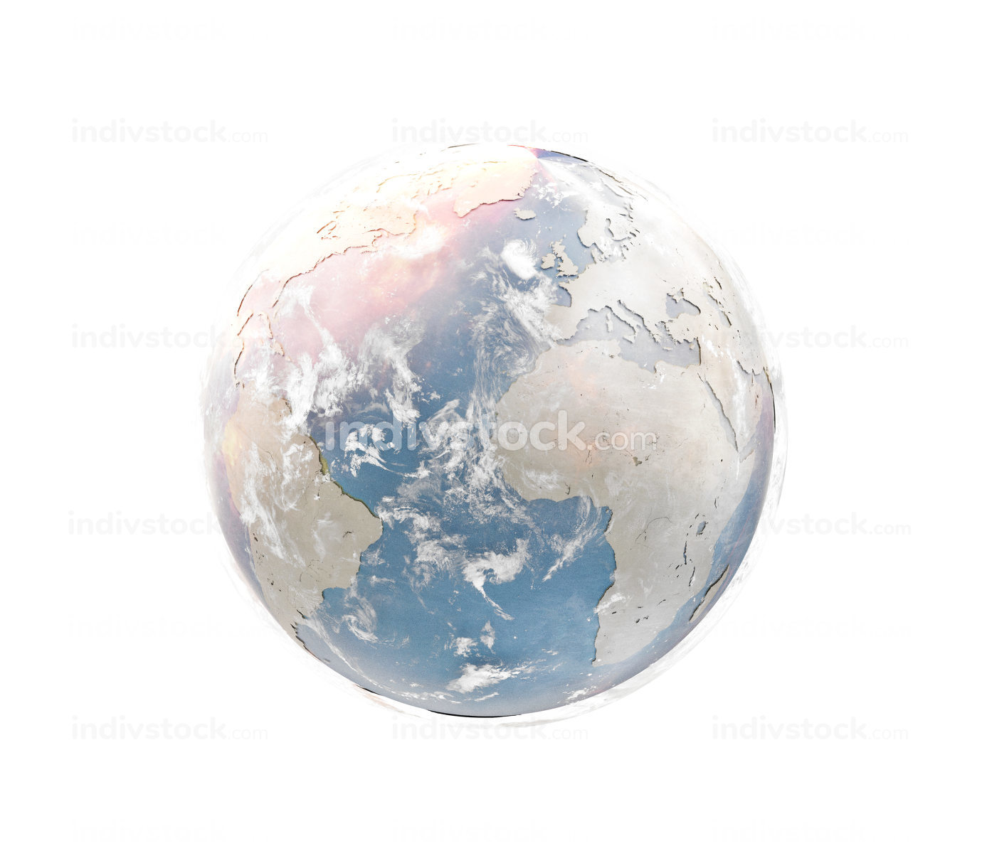 planet earth in sand desert design 3d-illustration. elements of this image furnished by NASA