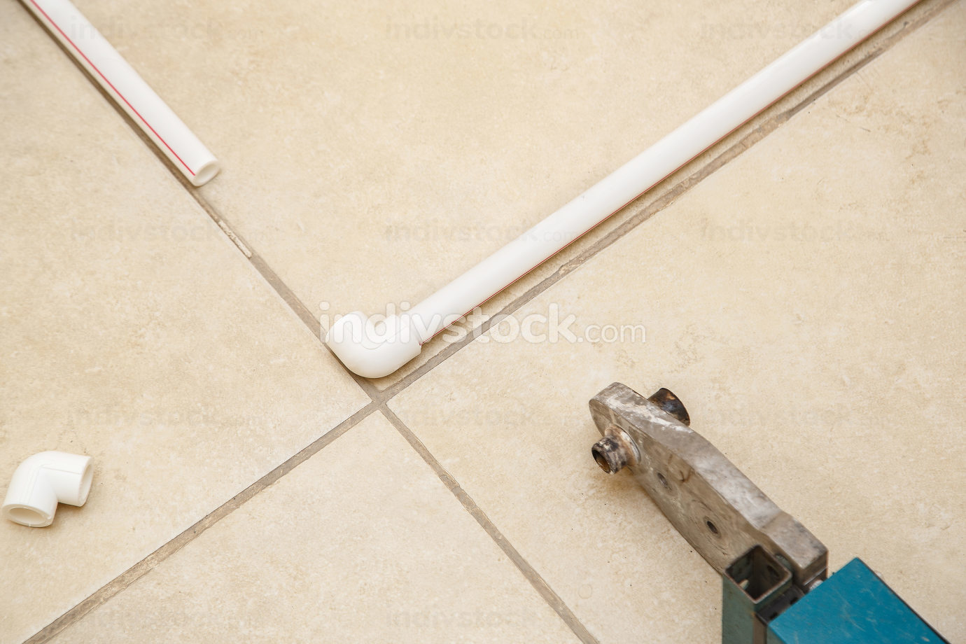 plastic pipes,plastic corner and iron for connecting plastic pipes