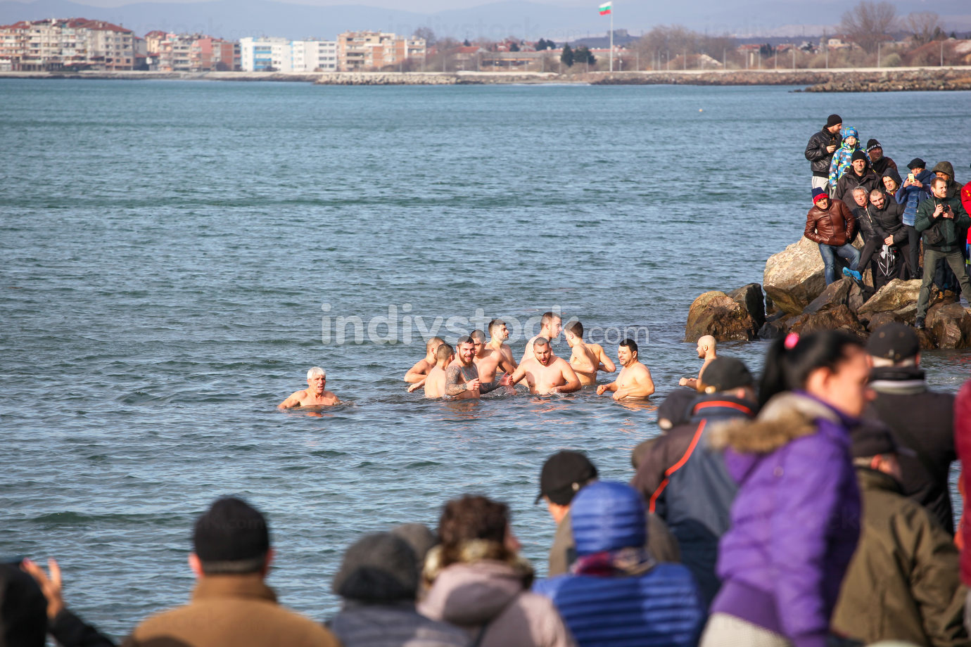 Pomorie, Bulgaria - January 06, 2020: Epiphany in the town of Pomorie