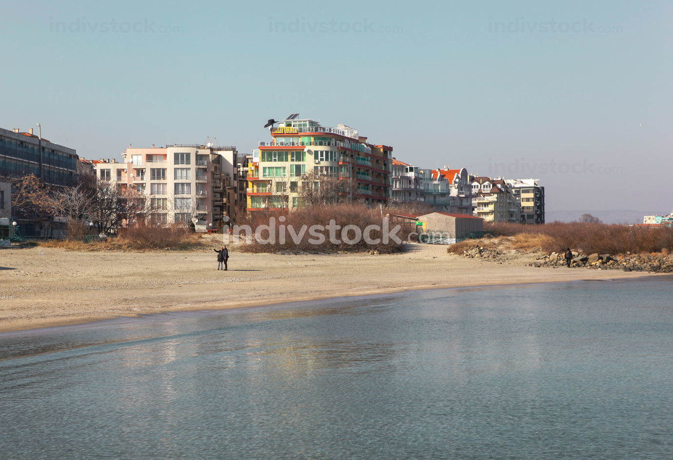 Pomorie, Bulgaria - January 26, 2020: Pomorie Is A Town And Seaside Resort In Southeastern Bulgaria, Located On A Narrow Rocky Peninsula In Burgas Bay On The Southern Bulgarian Black Sea Coast.