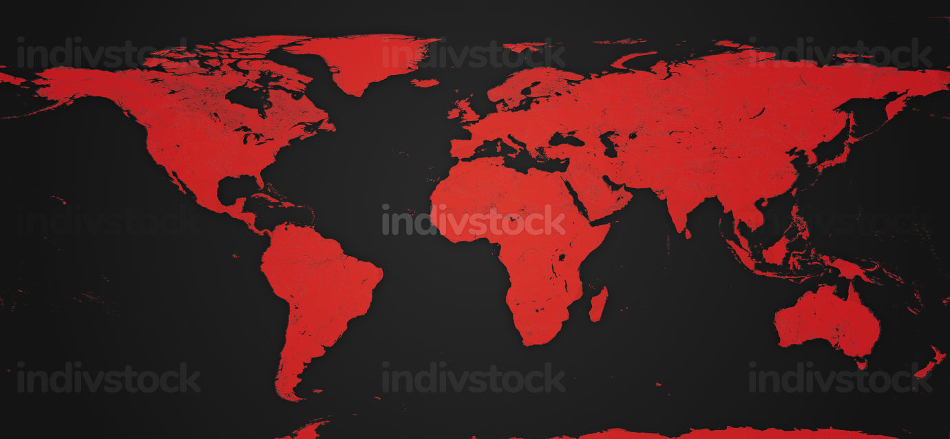 red world map background design red 3d-illustration. elements of this image furnished by NASA