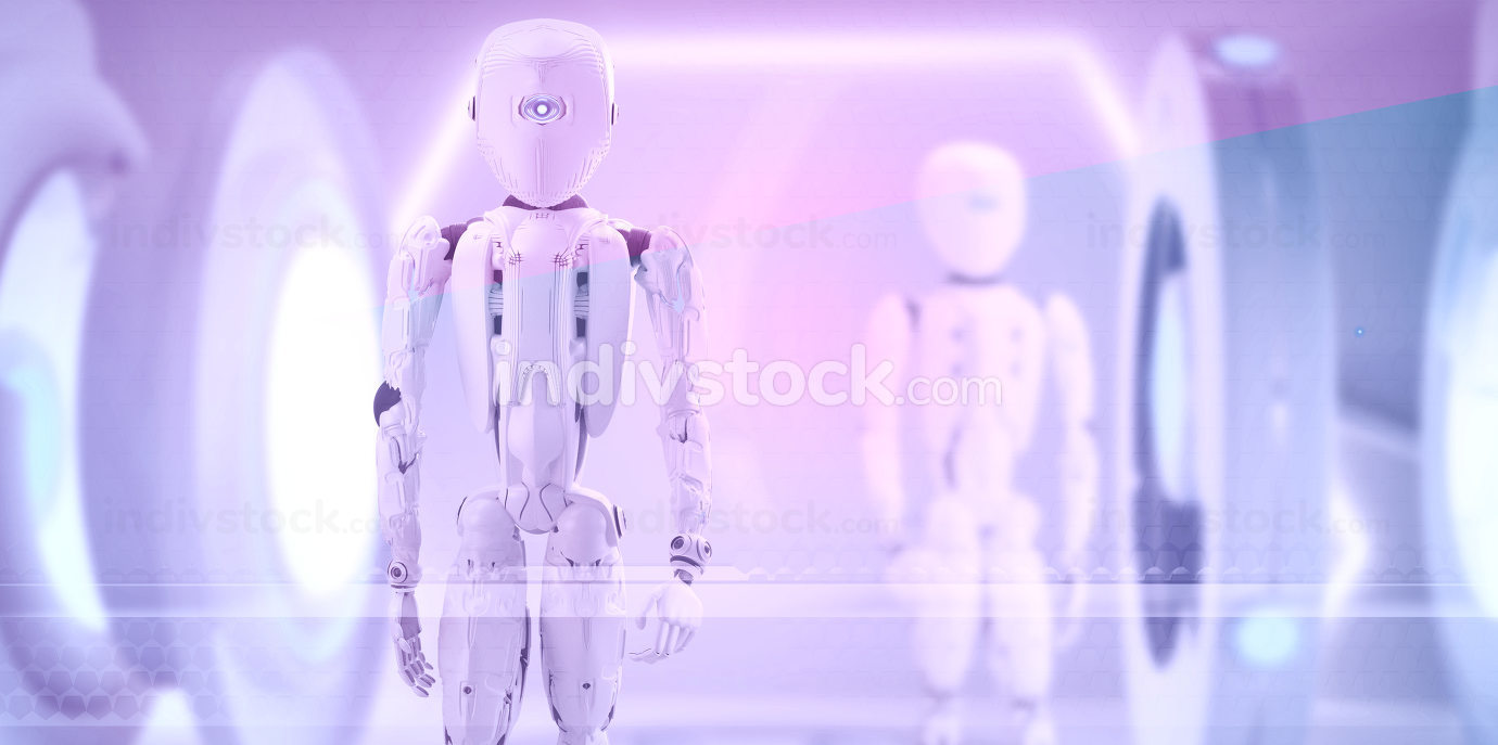 robots technology humanoids 3d-illustration