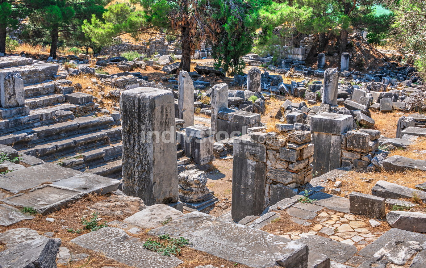 Ruins of the Ancient city Priene in Turkey