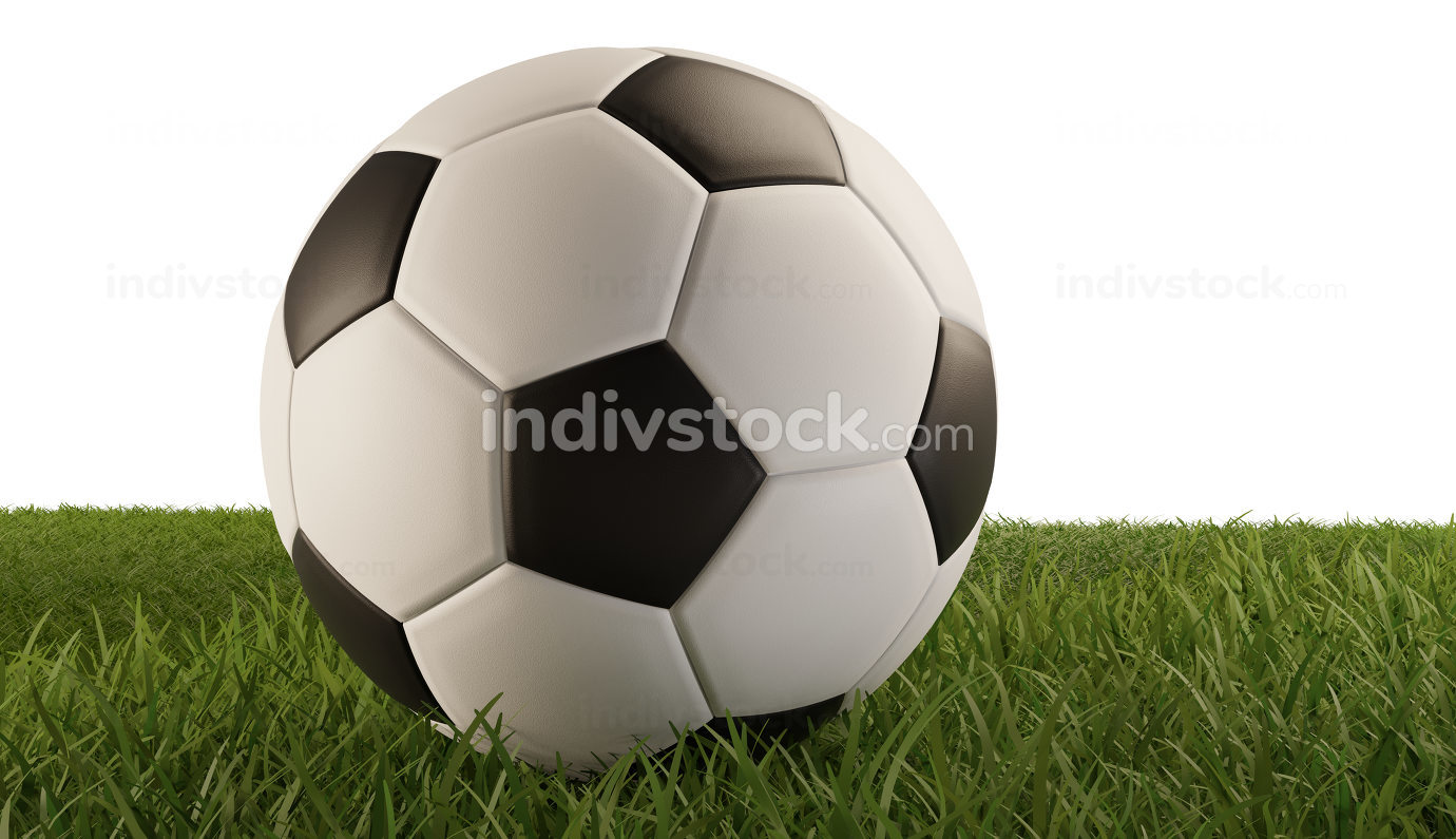soccer ball soccer field 3d-illustration