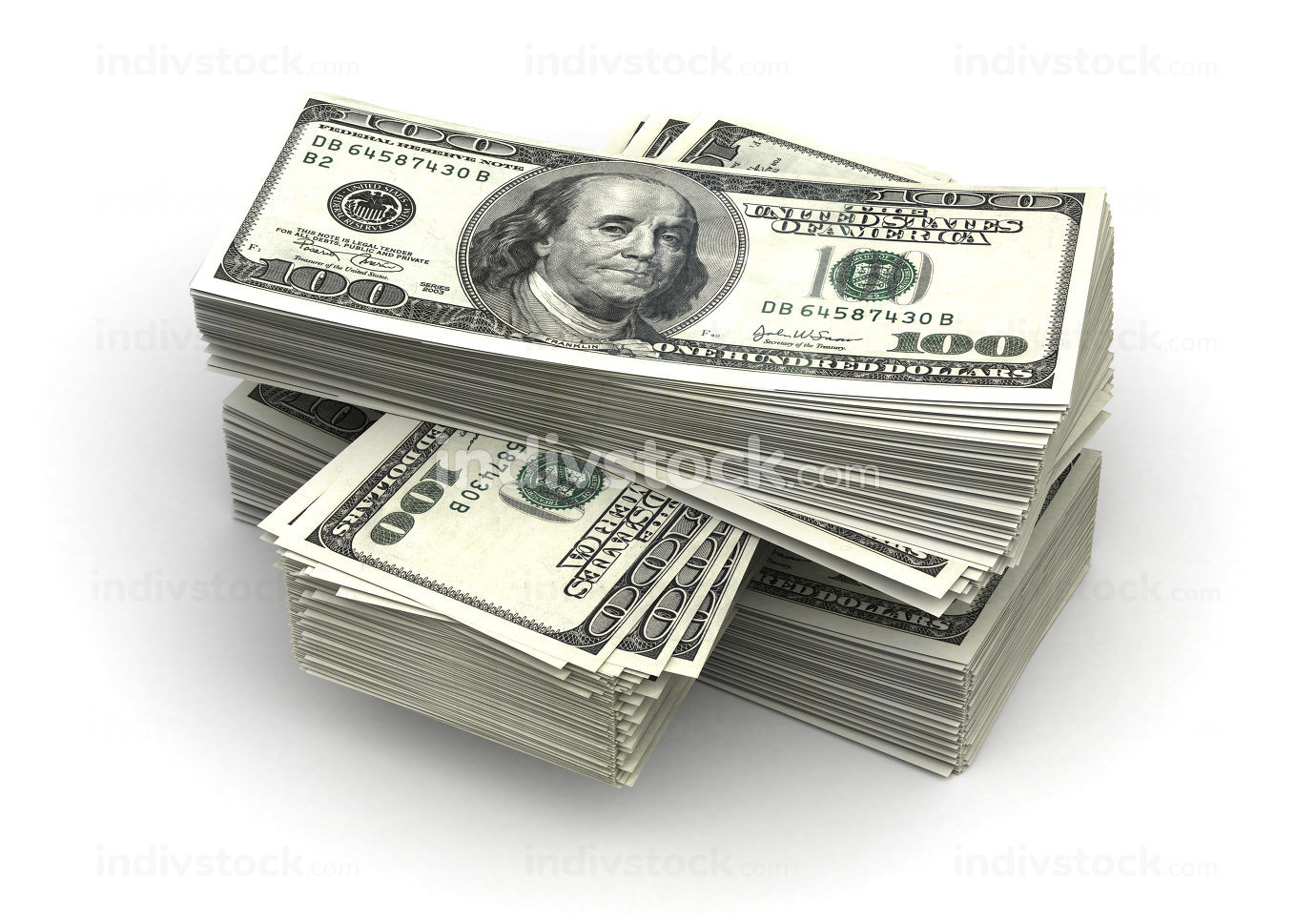 Stack of Dollar 3d-illustration