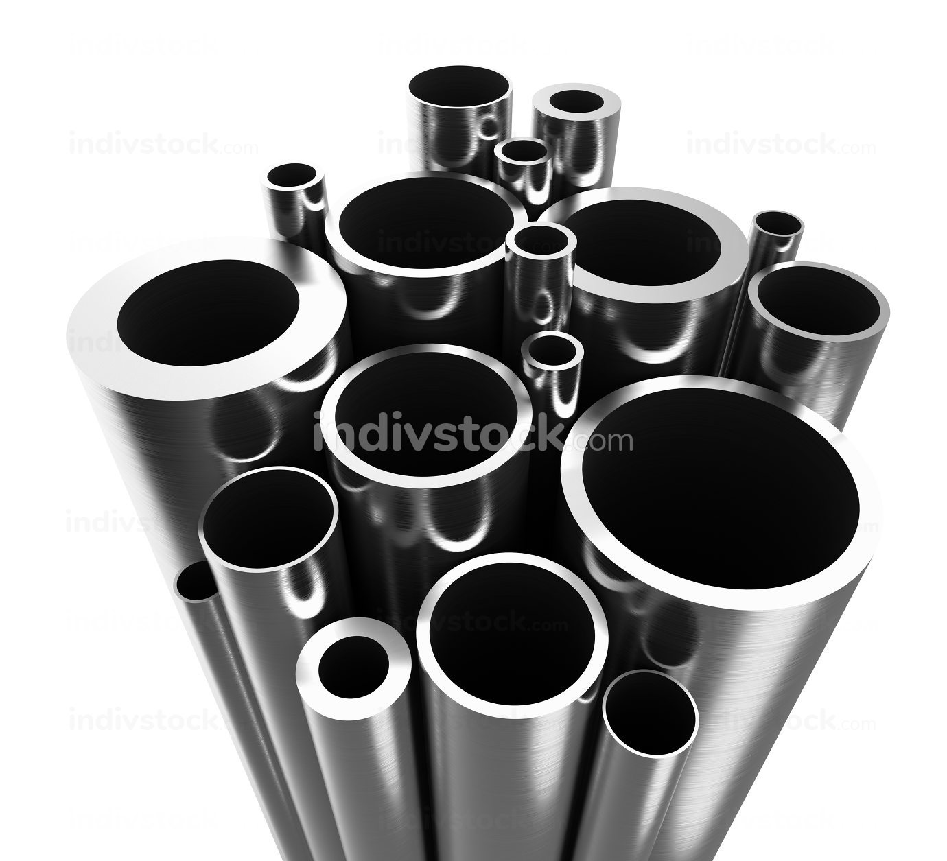 Stell Pipes 3d-illustration