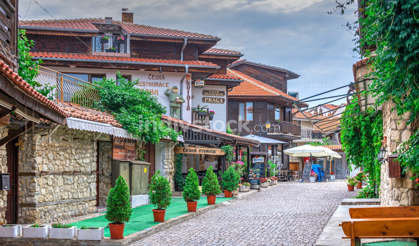 Streets of the old town of Nessebar, Bulgaria – 07.10.2019