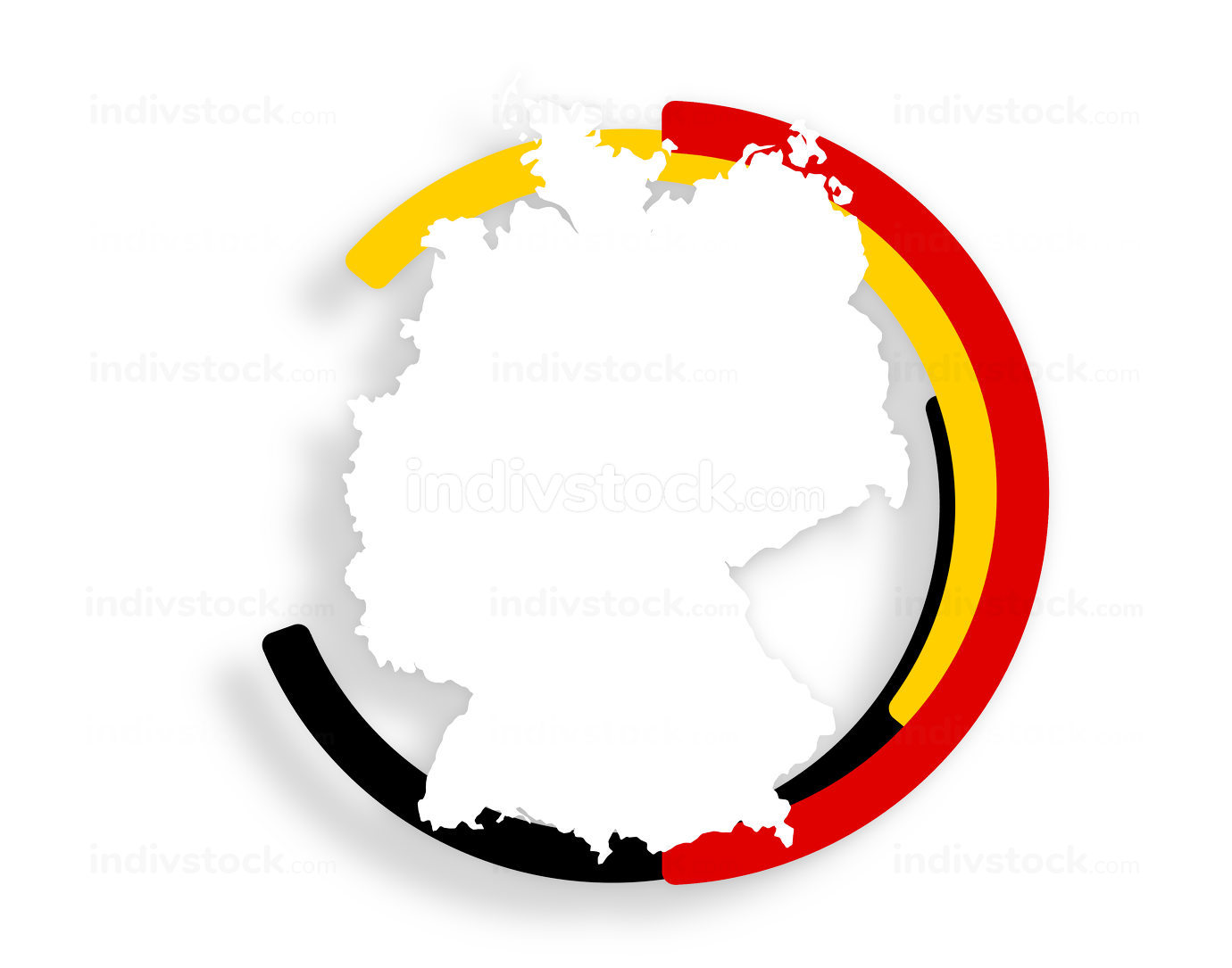 Symbol colors of flag of Germany 3d-illustration