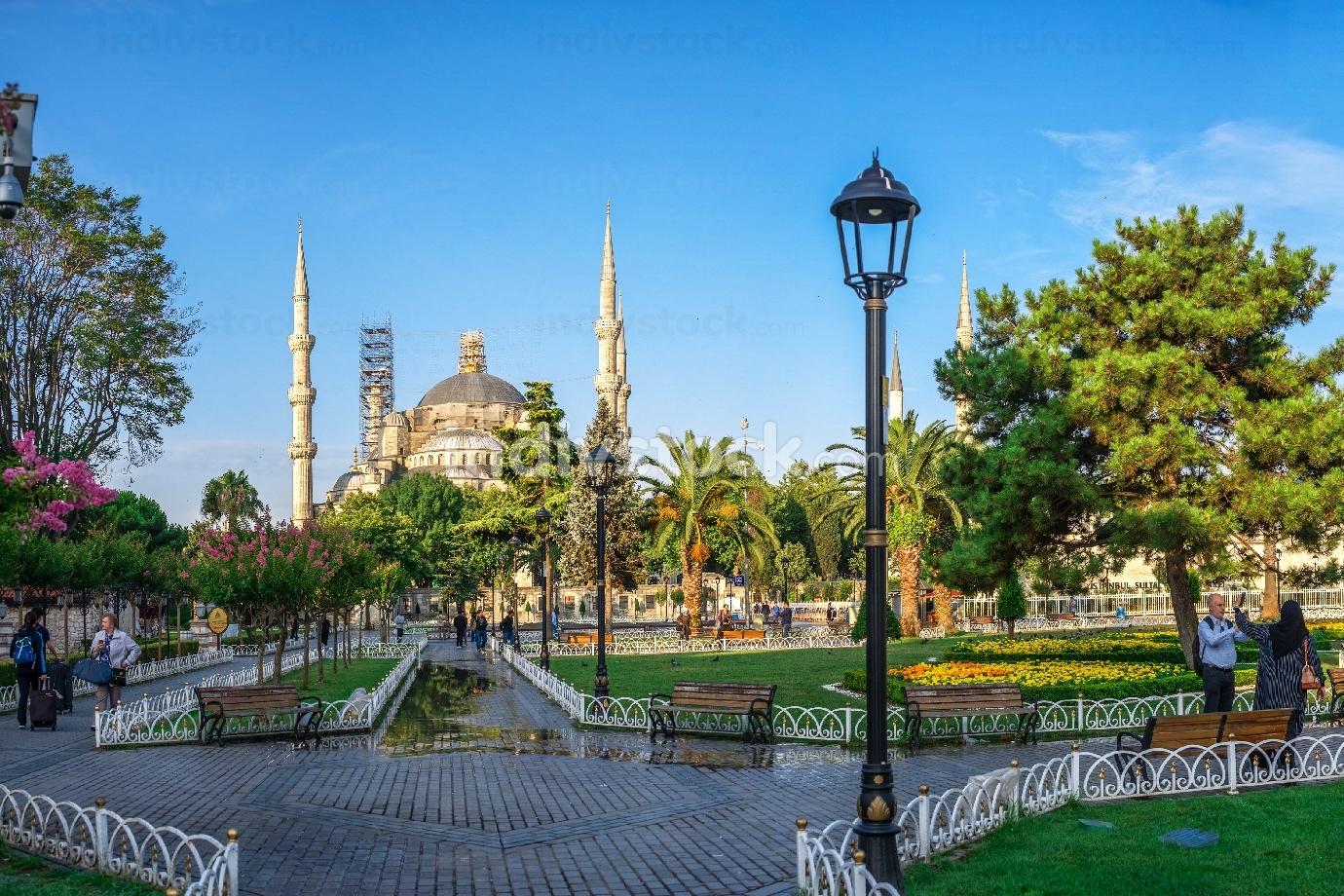 The Sultan Ahmad Maydan in Istanbul, Turkey