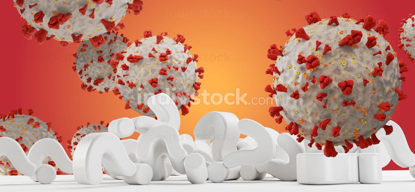 virus cell symbolic image 3d-illustration