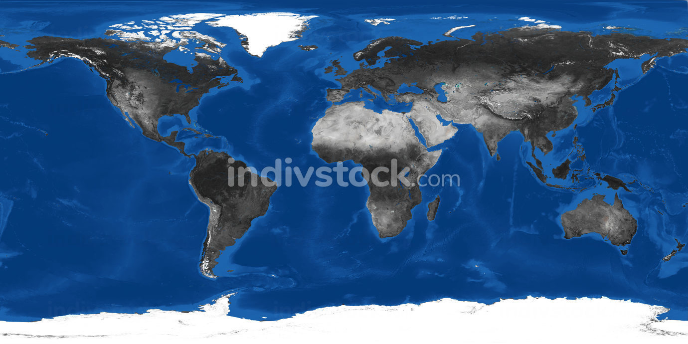 world map grey dark landscape 3d-illustration