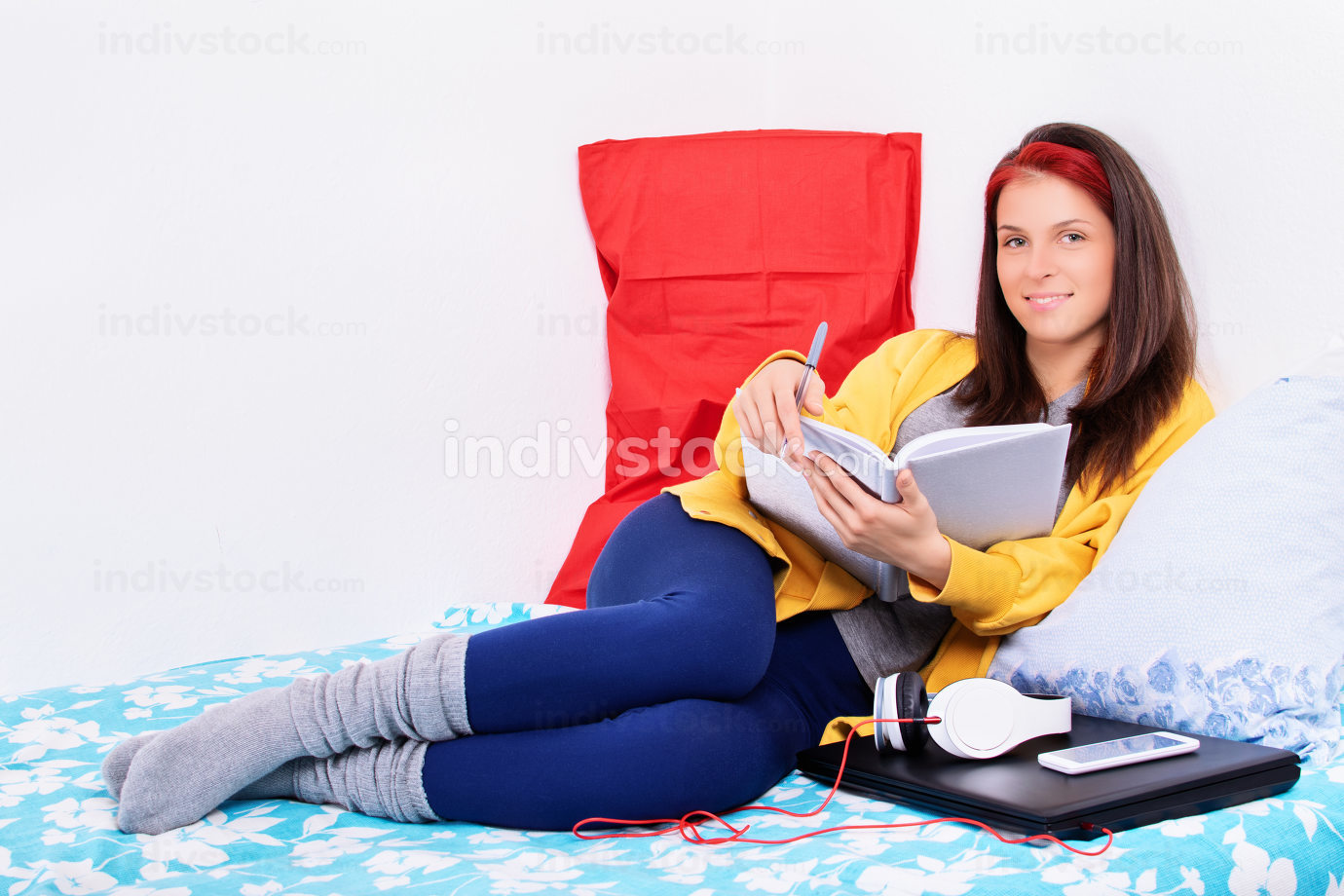 Young woman scheduling her day