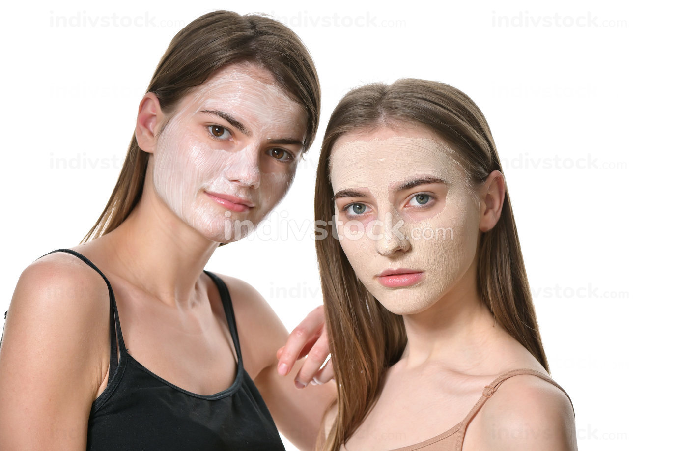 Young Women With Facial Mask