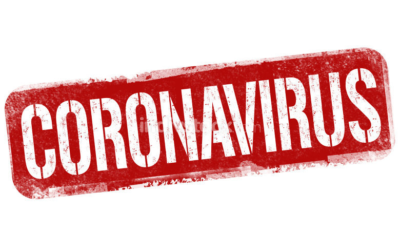 Coronavirus sign or stamp
