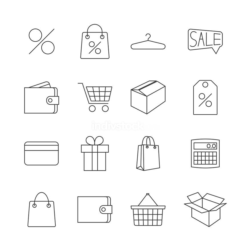 Icons purchase, vector illustration.