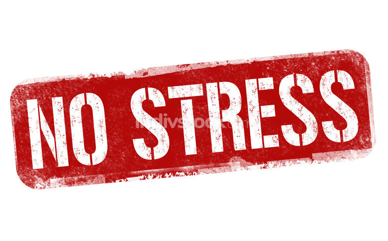No stress sign or stamp