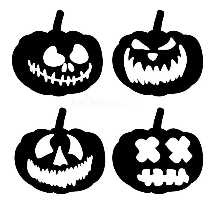 pumpkin face vector