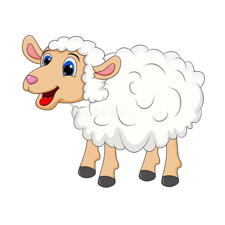 Sheep Cartoon Mascot Character