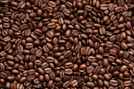 A background from coffee beans, roasted beans