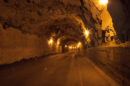 An old tunnel for cars on Madeira
