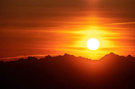 beautiful red sunset sky