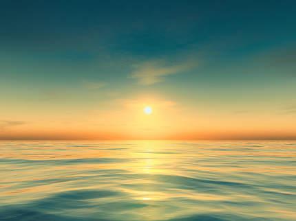 beautiful teal and orange sunset background