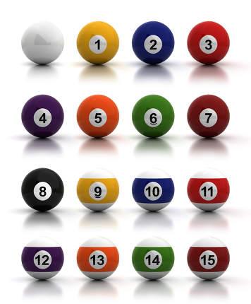 Billiard Balls Computer generated image