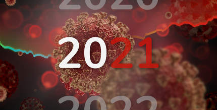 corona virus year 2021 creative red concept background 3d-illust