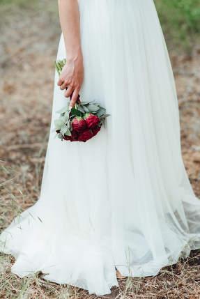 elegant wedding bouquet of fresh natural flowers