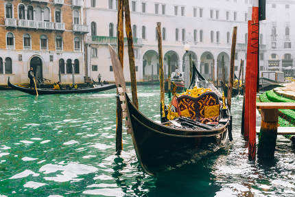 Gondola on the Grand canal of Venice