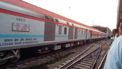 India May 2019, Poorva Express train of Indian Railways runs between Howrah, West Bengal, and New Delhi