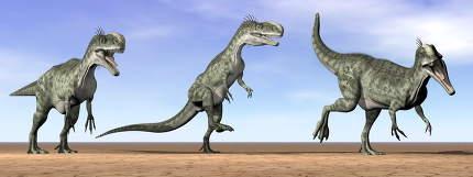 Monolophosaurus dinosaurs - 3D render