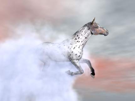 Surrealistic horse galloping