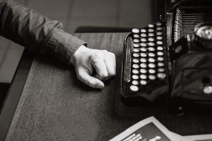 writer for the old typewriter
