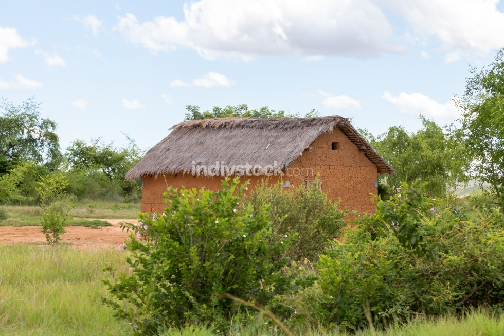 A house in Madagascar in a field
