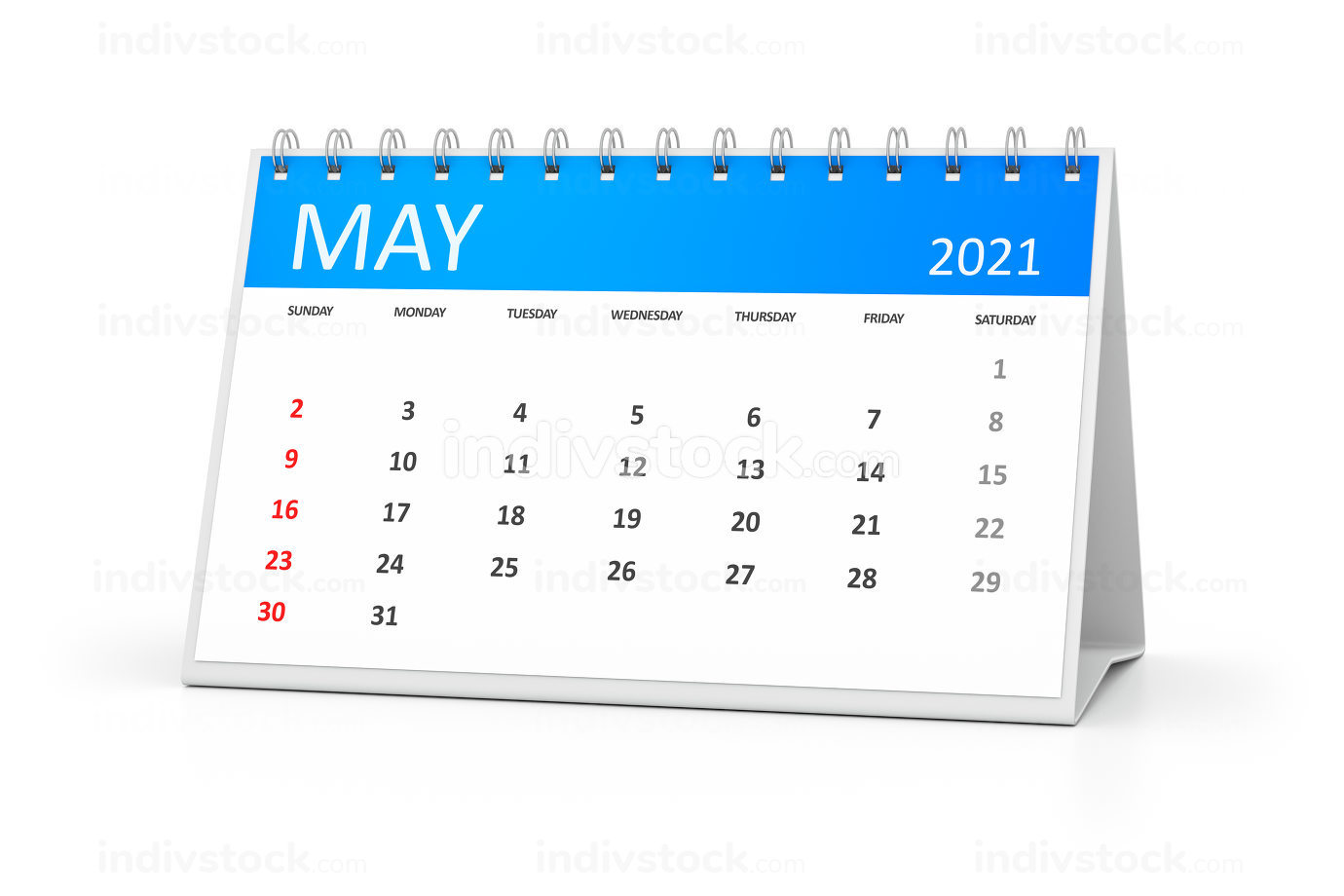 a table calendar for your events 2021 november 3d illustration