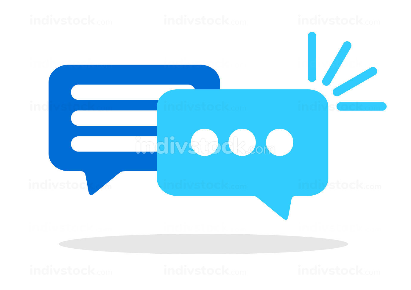 An illustration of a speech bubbles conversation symbol